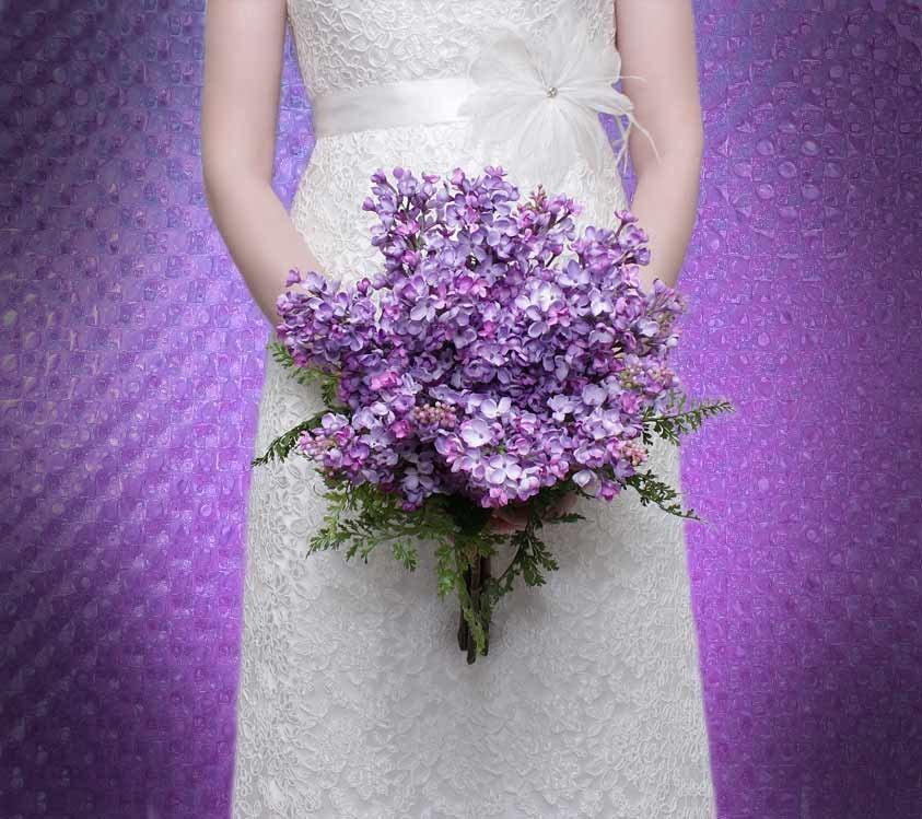 bridal bouquet lilac lavender purple silk wedding flowers. Black Bedroom Furniture Sets. Home Design Ideas
