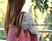 Luxury vintage Ethnic tote bag Hmong tribe flower HA11-1