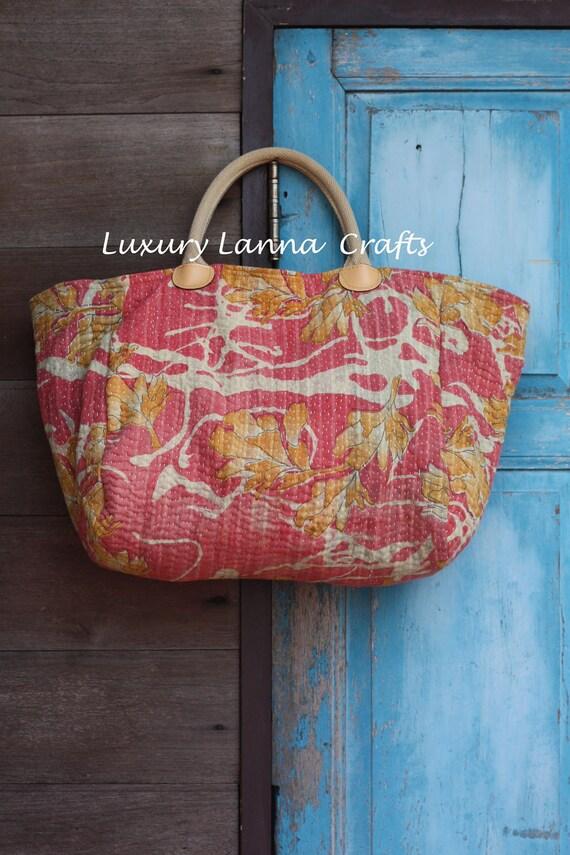 SALE / Luxury Tribal Kantha Tote Bag L283-L12