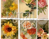Shabby Flowers Vintage Digital Collage Sheet One