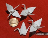 2 inches white cranes (25 pieces)