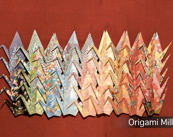6 inches patterned cranes (45 pieces in 45 different patterns)