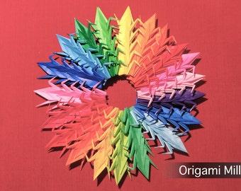 3 inches solid color cranes (200 pieces in 20 gradation colors)