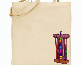 Eco Friendly Canvas/Twill Tote Bag - Reusable Grocery Bags - Gift Bag - Croquet - STRONGER BAGS