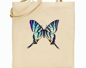 Eco Friendly Canvas Tote Bag - Butterfly Tote Bag