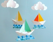 Little Sailboats -- 3D Mobile