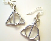 Deathly Hallows Inspired Earrings / Harry Potter
