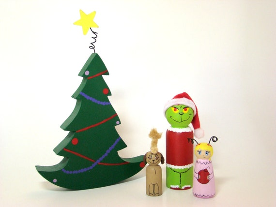 IN STOCK - The Grinch Gang Wood Peg Play Set Decoration