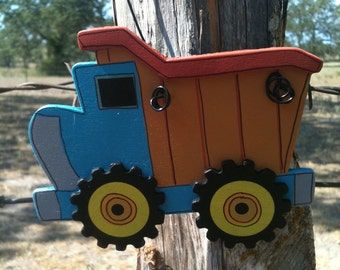 Dump truck wooden ornament PERSONALIZED for FREE