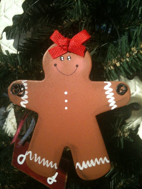 Gingerbread Girl wooden ornament PERSONALIZED for FREE