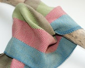 SALE : Handwoven Striped Twill Scarf