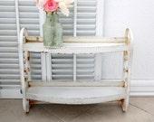 Vintage White 2-Tiered Shelf