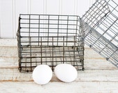Pair of Square Wire Baskets