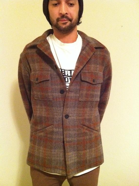 Vintage 70s Authentic Pendleton Men's Jacket Plaid Large M/L