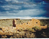 Photograph, Native American, Ruins of Past Times, 5x7 or 8x10 Color Cultural History Print, Wupatki National Monument, Northern Arizona