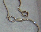 DIY 925 Pure Sterling Silver Earring Hooks 12p 6 pairs Findings Stamped 925 Hallmark on each earring hook