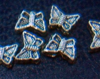 DIY Parts Jewellery Butterfly Separators 10pcs Bali Beads Metal for Jewelry Making parts