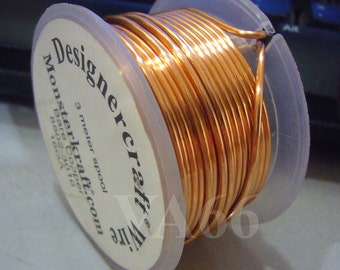 DIY 3 meters Copper Designer Bare Copper Craft Wire 16 Gauge 1.2mm for Beads Crystal Findings Use for Craft Projects
