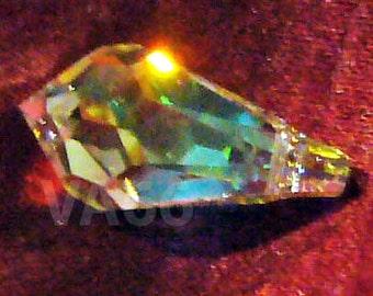 15mm Swarovski Crystal 6000 Teardrop 1p Crystal AB Beads Jewelry making Scrapbooking sewing crafts