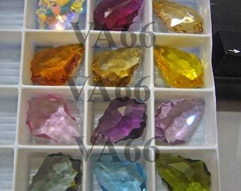 2pcs 22mm x 15mm Swarovski Baroque Pendant Crystal AB 6090 12 Color Choices Choose your own Color Swarovski Crystal Pendant