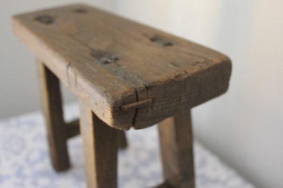 Antique Rustic Footstool