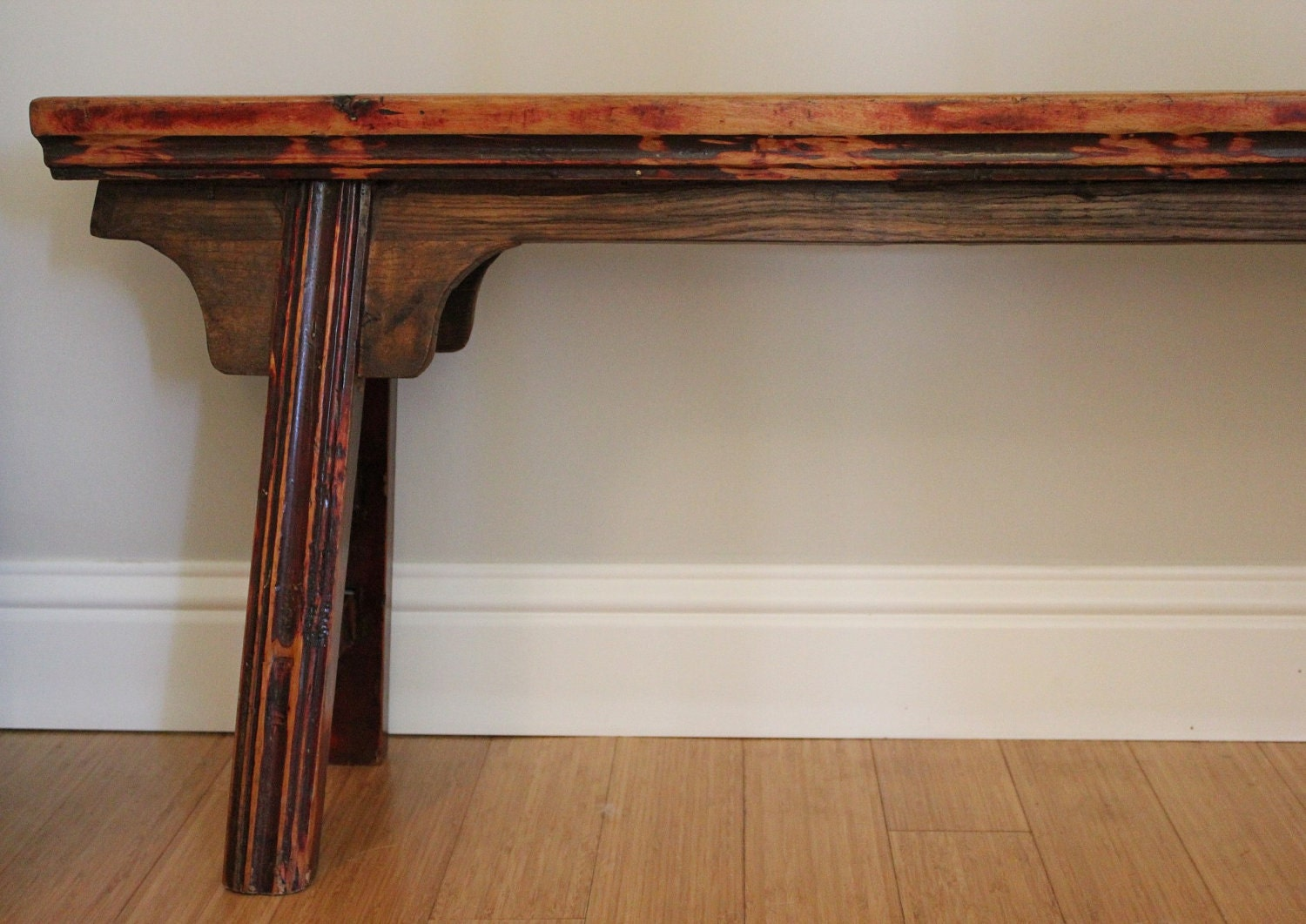 Unique Narrow Wooden Bench By Landrvintage On Etsy