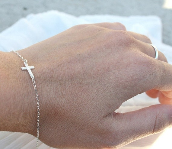 Small Cross Bracelet  STERLING SILVER