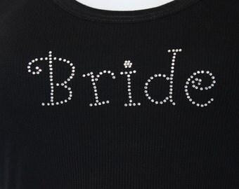 Bride Girly Rhinestone Iron On Heat Transfer - DIY