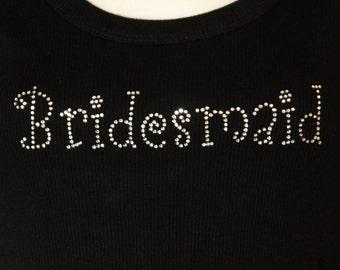 Bridesmaid Girly Rhinestone Heat Transfer (DIY)