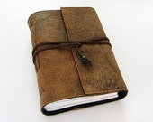 Rustic Brown - Handmade Leather Journal, travel journal, notebook, 384 pages, lined paper