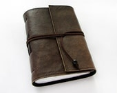 Dark Brown Handmade Leather Journal, travel journal, notebook, 320 pages, lined paper