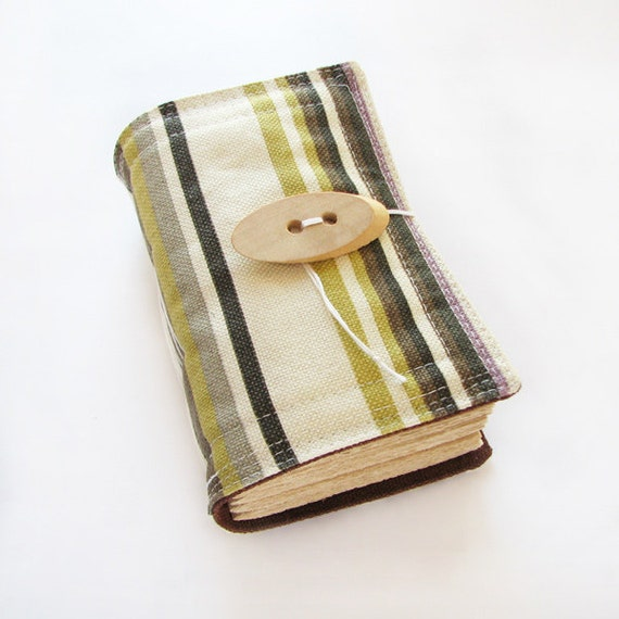 Fabric Journal, Sketchbook, Diary, Striped