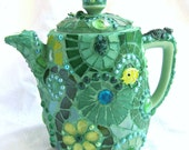 Wild Green Mosaic Teapot