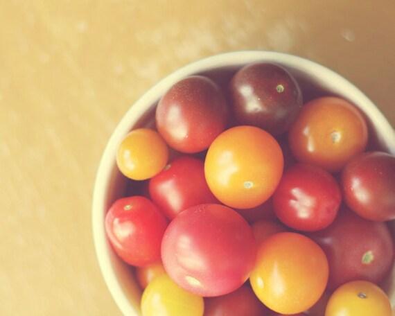 Art For Kitchen tomatoes, heirloom  Fine Art Food Photography Kitchen Art fruit still life Photography Vegetable art print, red orange