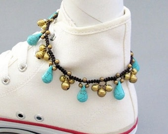 Fancy Turquoise Cascade Anklet