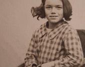 Circa 1900s Antique French Carte de Visite portrait real photo of a young girl CDV
