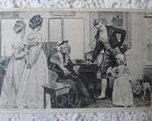 Grandmamma's birthday - Enchanting Edwardian  antique postcard 1901.
