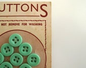 Fresh mint vintage buttons from the 1940s. Made in England charming vintage haberdashery