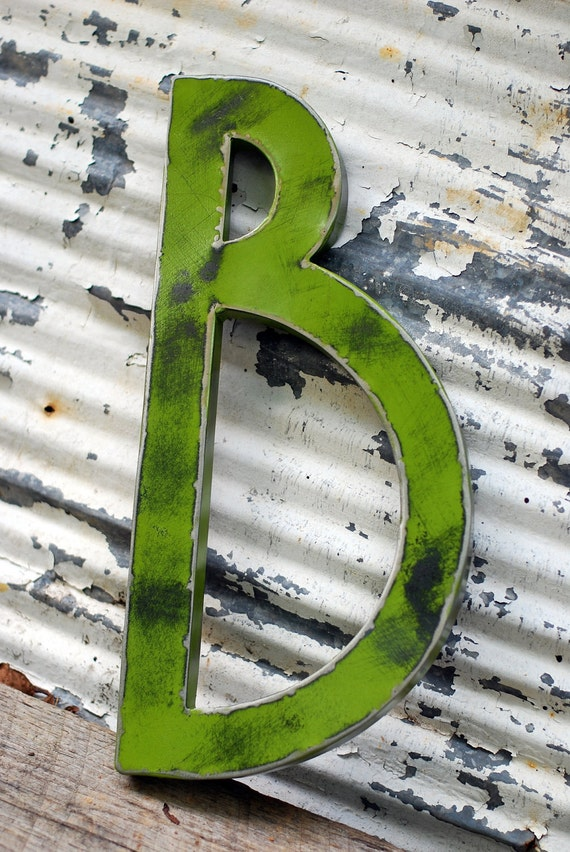 """Metal Typography - 16""""H Letter """"B"""""""