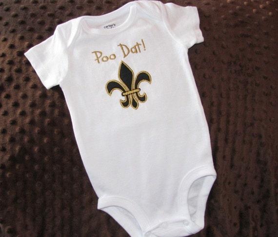 Saints Baby Poo Dat Onesie