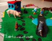 3D felt playmat