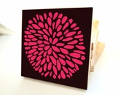 Flower Wall Art - One multlicolor block- customizable colors