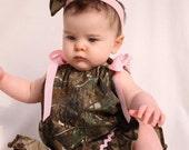 baby girl camo, realtree gift set, pillowcase dress, shoes, hair bow