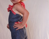 Patriotic Romper, Patriotic girl, 4th of July toddler, Red white and blue Romper