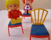 Three Chairs and Two Dolls. 80s