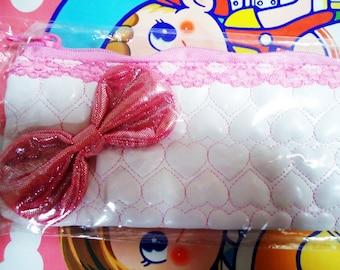 Japanese Pencase. 80s.Super Glittery Pink