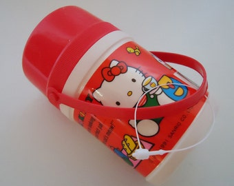 Hello Kitty Mini Water Carrier container.1991.Sanrio
