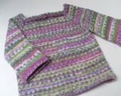 Hand knitted baby jumper ,mock Fair Isle.