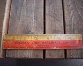 """Vintage Canadian Line Material Limited 7"""" Ruler"""
