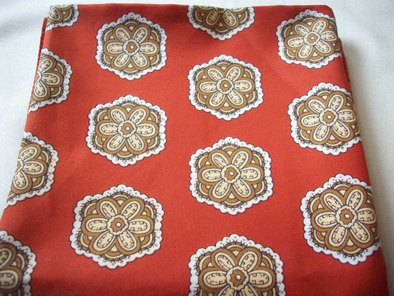 SALE - Red-Brown and Orange Flower Scarf
